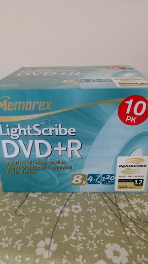 Memorex LightScribe DVD+R for Sale in Atlanta, GA