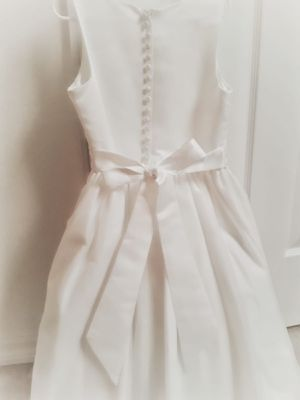 First Comunion White Dress with Cardigan Size 7-8 for Sale in Windermere, FL