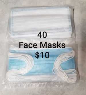 NEW Single Use Face Masks (4 packs of 10ea) for Sale in Portland, OR