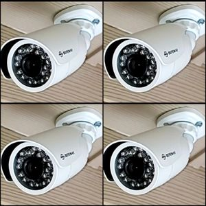 4 1080p Security cameras with memory and labor included.. hablo espanol for Sale in Dallas, TX