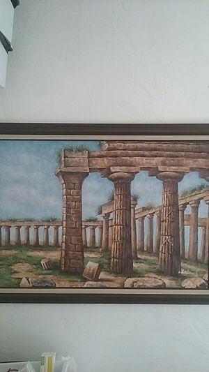 Framed canvas painting 29 × 41 for Sale in Hialeah, FL