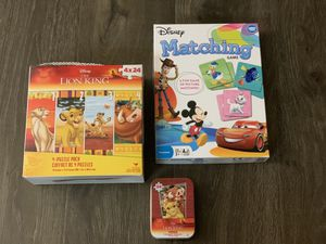 Toys for Sale - Lion King Puzzle & Disney Card Game for Sale in Elk Grove, CA