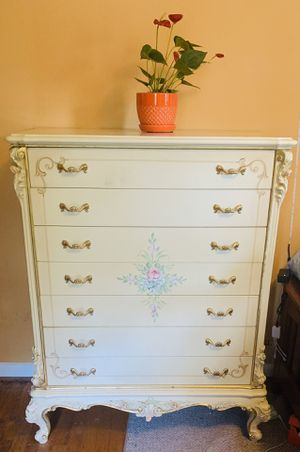 Antique Italian white and gold armoire for Sale in Fairfax, VA
