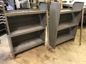 2- 3-tier metal shelving units for work truck. for Sale in Sterling Heights, MI
