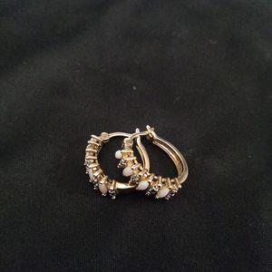 925 Stamped Yellow Silver/ .10 Diamond Earrings for Sale in Glen Burnie, MD