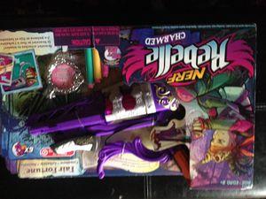 New Rebell Nerf gun for girl for Sale in Ellicott City, MD