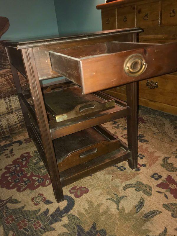 Vintage/antique caster cart.