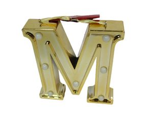Ganz Led Initial Ornament Letters Gold/M for Sale in Norfolk, VA