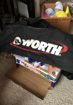 Baseball bag with ball for Sale in Alexandria, VA