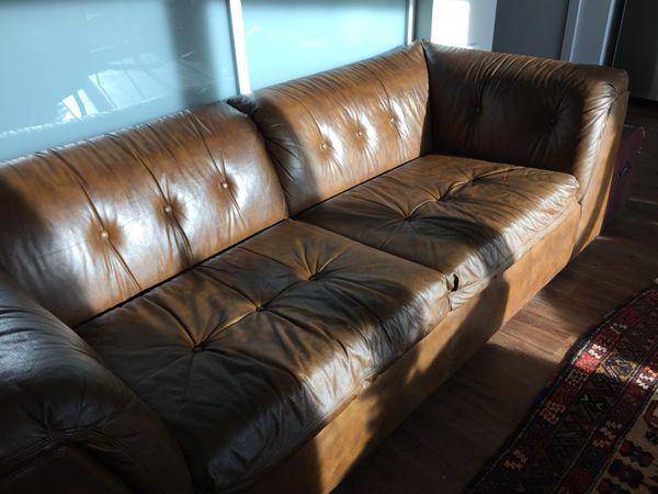 Brilliant Vintage Schafer Bros Leather Couch 295 For Sale In Seattle Machost Co Dining Chair Design Ideas Machostcouk