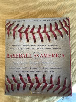 Baseball as America hardcover coffee table book play National Geographic with dust jacket originally $35 for Sale in West Palm Beach, FL