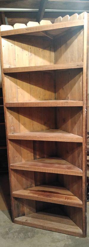 Farm house chic wood corner shelf for Sale in Houston, TX