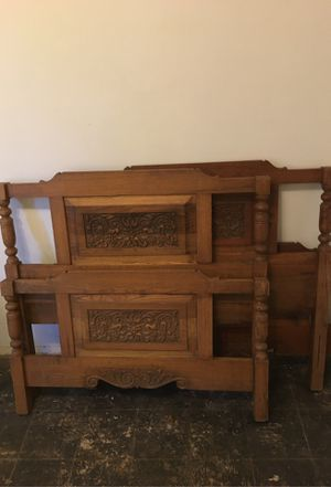 Two antique oak twin bed frames for Sale in San Bernardino, CA