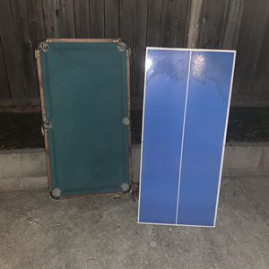 Mini Pool Table, Ping Pong Table, And Air Hockey Table for Sale in San Rafael, CA