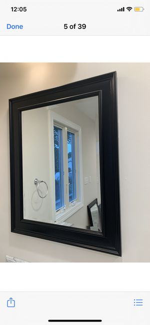 Black Wall Mirror for Sale in Piscataway, NJ
