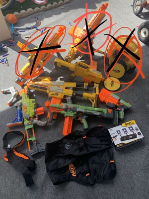 Nerf Guns! Set or individual for Sale in Artesia, CA