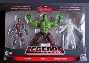 Marvel Legends Infinite Series HULK ULTRON VISION Action Figure Avengers 3-Pack Set Not a BAF for Sale in San Diego, CA