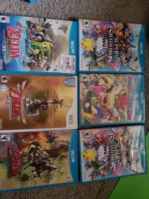 Wii games zelda Mario splatoon and more! for Sale in Woodway, WA