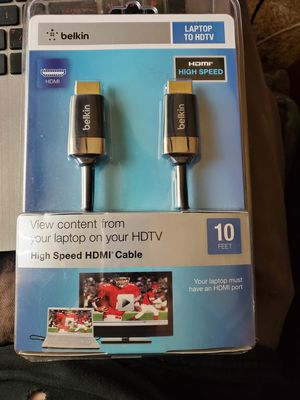 New HDMI cable 10 feet high speed for Sale in Stockton, CA