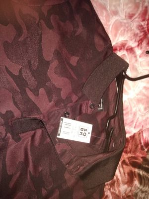 Red camo Polo shirt L fit like medium for Sale in Austin, TX