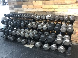 2100+ Pounds of a Dumbbells plus 3 Tier rack! #5-100 for Sale in Miami, FL