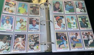 1978 Topps Baseball Card Complete Set 1-726 In Binder NM Mint for Sale in Fullerton, CA