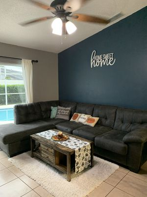 Sectional couch with chaise for Sale in Celebration, FL