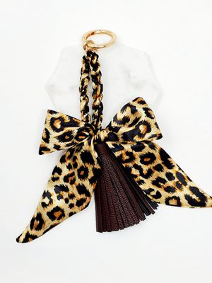 Leopard print scarf tassel bag charm for Sale in Baldwin Park, CA
