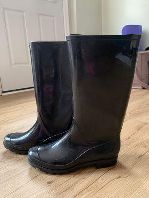 Black rain boots for Sale in Arlington, VA