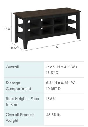 Brand New Distressed Black Cubby Storage Shelf for Sale in Vancouver, WA