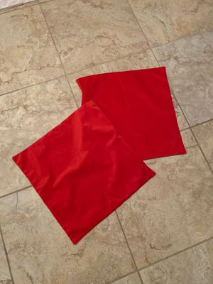 Red decorative pillow case (set of 2) for Sale in Goodyear, AZ