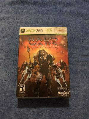 XBOX 360 Halo Wars Limited Edition NO CD GAME ONLY BOX AND BOOKS for Sale in North Lauderdale, FL