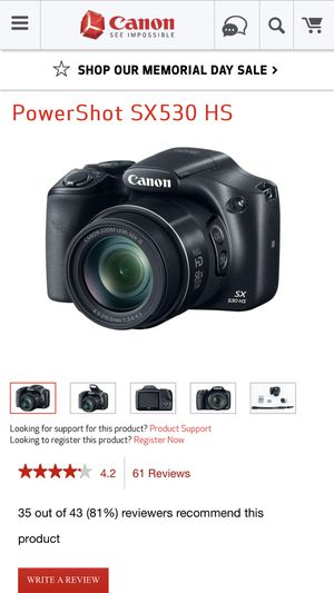 Canon Powershot Sx530 HS for Sale in Austin, TX