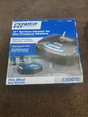 Power fit 14 surface cleaner for gas pressure washer great for Driveways 3300 max psi for Sale in Fort Worth, TX
