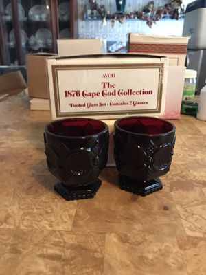 1876 Cape Cod Collection 2 glasses for Sale in Lancaster, TX