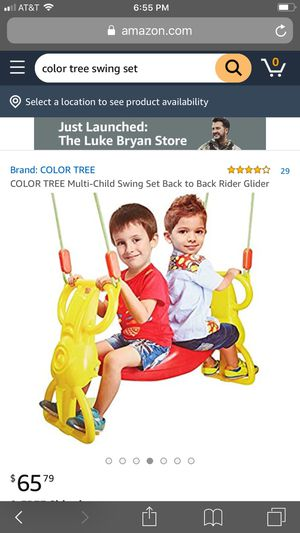 color tree multi child swing set for Sale in Los Angeles, CA