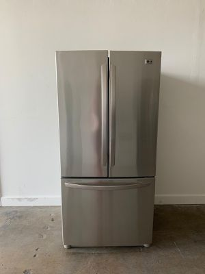 "LG Fridge Nevera Refrigerador Refrigerator French Door stainless steel.33"" good condition... we deliver... 90 days warranty for Sale in Miami, FL"