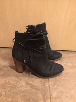 Black Franco Sarto leather boots. Women's size 8. Good condition for Sale in Graham, WA