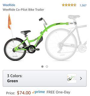WeeRide Tandem Bike Trailer for Sale in Apopka, FL