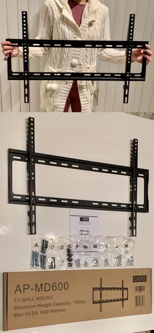"""New universal 32 to 65 inch LCD LED Plasma Flat Fixed TV Wall Mount stand 32 37"""" 40"""" 42 46"""" 47 50"""" 52 55"""" 60 65"""" inch tv television bracket 100lbs ca for Sale in Whittier, CA"""