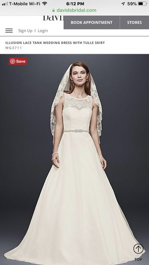 Wedding Dress - David's Bridal - Size 10. for Sale in Chino Hills, CA