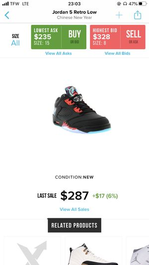 Jordan Retro 5s chinese New Year for Sale in Queens, NY