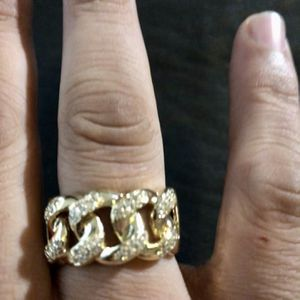 18kmgl(gold-filled not plated or stainless ) Cuban Link Ring Size 11 , includes warranty for Sale in Tampa, FL