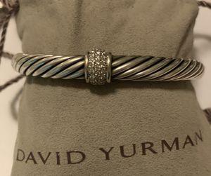 David Yurman Cable Classics Bracelet with Diamonds, 7mm for Sale in San Diego, CA