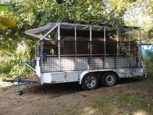 16' dial axle trailer previously enclosed for Sale in Houston, TX