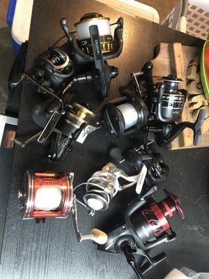 Fishing reels. Some brand new! Please read ad for pricing for Sale in Fort Lauderdale, FL