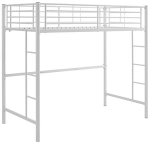 White metal loft bed frame for Sale in Lubbock, TX