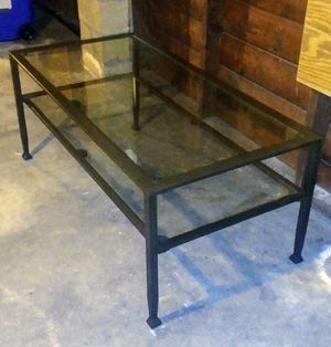 Metal coffee table glass shelves for Sale in Quincy, MA