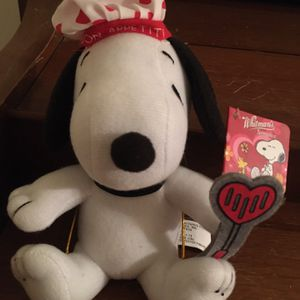 Snoopy Valentine Day Chef Plush Whitman Chocolate for Sale in Apache Junction, AZ