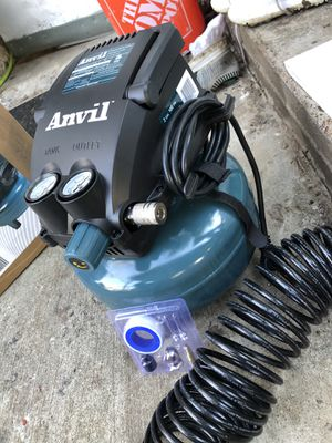 Anvil 2 gal pancake air compressor with accessory kit for Sale in San Antonio, TX
